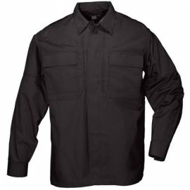 "5.11 Рубашка тактическая ""Tactical TDU Shirt - Long Sleeve, Ripstop"" (Black) * 72002-019"